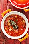 Vegetable stew with chickpeas and sausage Stock Photo - Premium Royalty-Freenull, Code: 659-06307493