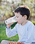 A little boy drinking a glass of milk Stock Photo - Premium Royalty-Free, Artist: Beth Dixson, Code: 659-06307505