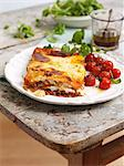 Lasagne with oven roasted tomatoes Stock Photo - Premium Royalty-Freenull, Code: 659-06307548