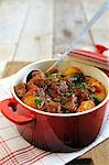 Beef, potato, pepper and tomato strew Stock Photo - Premium Royalty-Free, Artist: foodanddrinkphotos, Code: 659-06307569