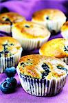 Blueberry muffins Stock Photo - Premium Royalty-Free, Artist: iRepublic, Code: 659-06307715