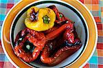 Grilled peppers fresh out of the oven Stock Photo - Premium Royalty-Freenull, Code: 659-06307724