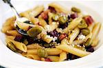 Penne pasta with Pancetta and broad beans Stock Photo - Premium Royalty-Free, Artist: Jean-Christophe Riou, Code: 659-06307799