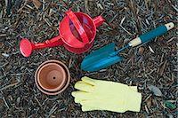 Various gardening utensils Stock Photo - Premium Royalty-Freenull, Code: 659-06307897