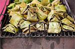Banana leaf wrapped grilled snacks Stock Photo - Premium Royalty-Free, Artist: Robert Harding Images    , Code: 6106-06308745