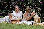 mother with children and dog having picnic Stock Photo - Premium Royalty-Free, Artist: Ty Milford, Code: 6106-06310935