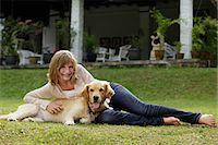 teen girl with dog Stock Photo - Premium Royalty-Freenull, Code: 6106-06310941