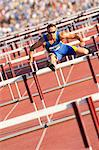 Male hurdler clearing hurdles Stock Photo - Premium Royalty-Free, Artist: Aflo Sport, Code: 614-06311630
