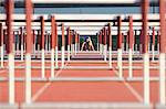 Male hurdler at starting line Stock Photo - Premium Royalty-Free, Artist: Aflo Sport, Code: 614-06311632