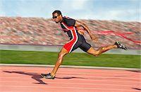 finish line - Runner crossing the finish line Stock Photo - Premium Royalty-Freenull, Code: 614-06311639