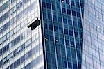 Window cleaner scaffold on side of skyscraper Stock Photo - Premium Royalty-Free, Artist: ableimages, Code: 614-06311731