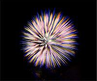 exploding - Firework in the sky Stock Photo - Premium Royalty-Freenull, Code: 614-06311851