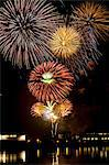 Firework display over water Stock Photo - Premium Royalty-Free, Artist: photo division, Code: 614-06311861