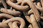 Close up of heavy rusted chain Stock Photo - Premium Royalty-Free, Artist: Frank Krahmer, Code: 614-06312100