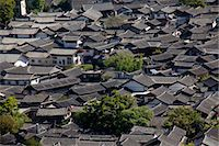 Residential rooftops at the ancient city of Lijiang, Yunnan Province, China Stock Photo - Premium Rights-Managednull, Code: 855-06313039