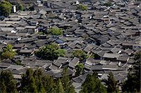 Residential rooftops at the ancient city of Lijiang, Yunnan Province, China Stock Photo - Premium Rights-Managednull, Code: 855-06313041