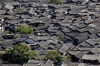 Residential rooftops at the ancient city of Lijiang, Yunnan Province, China Stock Photo - Premium Rights-Managednull, Code: 855-06313042
