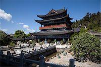 Mu family mansion, Wu Juan Pavilion, Lijiang, Yunnan Province, China Stock Photo - Premium Rights-Managednull, Code: 855-06313065