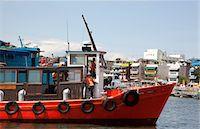 Fishing boats mooring at Cheung Chau, Hong Kong Stock Photo - Premium Rights-Managednull, Code: 855-06313294