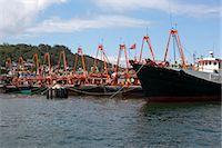 Fishing boats mooring at Cheung Chau, Hong Kong Stock Photo - Premium Rights-Managednull, Code: 855-06313417