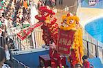 Lion dance celebrating the chinese new year at Ocean Theatre, Ocean Park, Hong Kong Stock Photo - Premium Rights-Managed, Artist: Oriental Touch, Code: 855-06313861