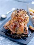 Roast guinea-fowl with bacon and herbs Stock Photo - Premium Rights-Managed, Artist: Photocuisine, Code: 825-06315229