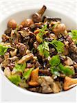 Mushroom stir-fry Stock Photo - Premium Rights-Managed, Artist: Photocuisine, Code: 825-06315329