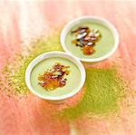Green tea Crème brûlée Stock Photo - Premium Rights-Managed, Artist: Photocuisine, Code: 825-06315423