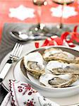 Plate of oysters Stock Photo - Premium Rights-Managed, Artist: Photocuisine, Code: 825-06315691