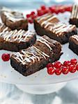 Brownies and redcurrants Stock Photo - Premium Rights-Managed, Artist: Photocuisine, Code: 825-06315751