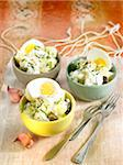 Potato salad with garlic yoghurt sauce,capers,mint and hard-boiled egg Stock Photo - Premium Rights-Managed, Artist: Photocuisine, Code: 825-06315790