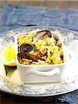 Rice with seafood Stock Photo - Premium Rights-Managed, Artist: Photocuisine, Code: 825-06315797