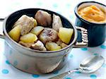 Turkey with chestnuts and apples, sweet potato puree Stock Photo - Premium Rights-Managed, Artist: Photocuisine, Code: 825-06316078