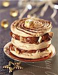 Chocolate and nougat Mille-feuille Stock Photo - Premium Rights-Managed, Artist: Photocuisine, Code: 825-06316351