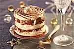 Chocolate and nougat Mille-feuille Stock Photo - Premium Rights-Managed, Artist: Photocuisine, Code: 825-06316352