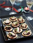 Foie gras and onion chutney tartlets Stock Photo - Premium Rights-Managed, Artist: Photocuisine, Code: 825-06316375