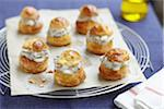 Choux buns with mushroom and diced bacon filling Stock Photo - Premium Rights-Managed, Artist: Photocuisine, Code: 825-06316441