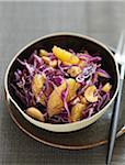 Red cabbage,orange and cashew salad Stock Photo - Premium Rights-Managed, Artist: Photocuisine, Code: 825-06316505