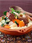 Couscous with beef and vegetables Stock Photo - Premium Rights-Managed, Artist: Photocuisine, Code: 825-06316627