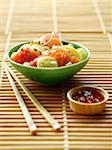 Fish Sashimi and potato salad