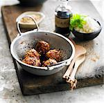 Chicken balls with sesame seeds Stock Photo - Premium Rights-Managed, Artist: Photocuisine, Code: 825-06316831