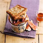 Foie gras and fig toasted sandwich Stock Photo - Premium Rights-Managed, Artist: Photocuisine, Code: 825-06316834