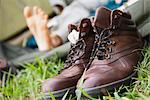 Hiking boots, close-up Stock Photo - Premium Royalty-Free, Artist: Ty Milford, Code: 632-06317158