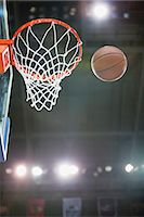 Basketball and hoop Stock Photo - Premium Royalty-Freenull, Code: 632-06317721