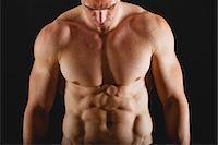 Barechested muscular man Stock Photo - Premium Royalty-Freenull, Code: 632-06318091