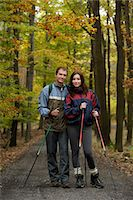 Young couple on walking trail Stock Photo - Premium Royalty-Freenull, Code: 618-06318630
