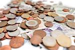 Selective focus of currencies Stock Photo - Premium Royalty-Freenull, Code: 693-06325205