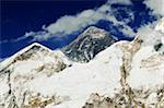 Mount Everest from Kala Patthar, Sagarmatha National Park, Solukhumbu District, Purwanchal, Nepal Stock Photo - Premium Royalty-Free, Artist: Jochen Schlenker, Code: 600-06325439