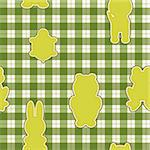 Seamless pattern with applications in the shape of an animal on checkered background Stock Photo - Royalty-Free, Artist: Linusy                        , Code: 400-06325723