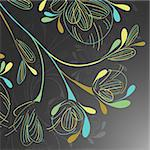 floral background Stock Photo - Royalty-Free, Artist: Sergio77                      , Code: 400-06326080
